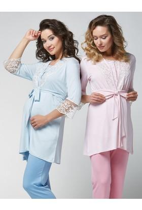 Pjs 3'lü Lohusa Pijama Takım PJS01703