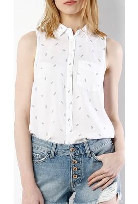 Colin's Beyaz Kadın Gömlek Kısa Kol