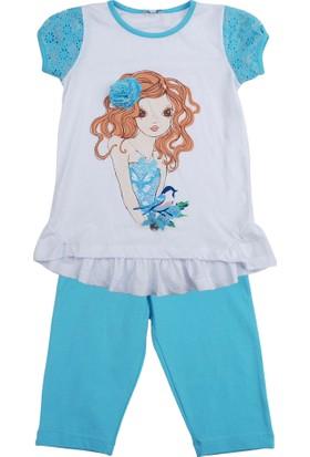 Zeyland Kız Çocuk Beyaz Bluz+Tayt K-51M554jzn76