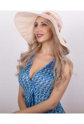 Bay Şapkacı Kadın Geniş Siperli Şapka