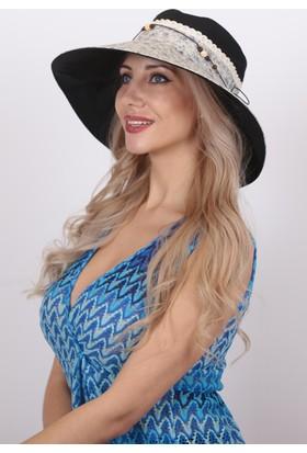 Bay Şapkacı Kadın Fistolu Geniş Kenarlı Şapka