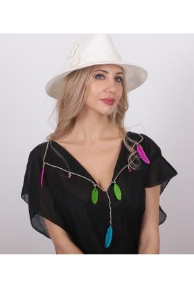 Bay Şapkacı Kadın Hasır Tüllü Şapka