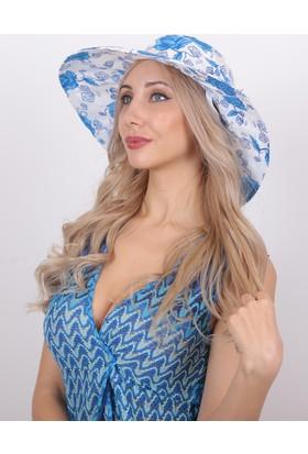 Bay Şapkacı Kadın Çiçek Desenli Şapka