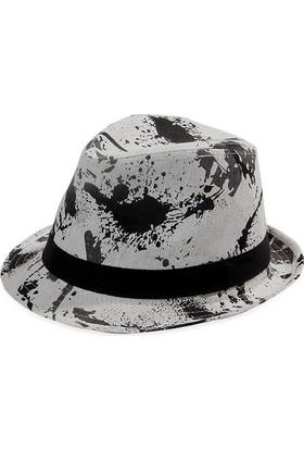 Bay Şapkacı Erkek Desenli Fötr Şapka