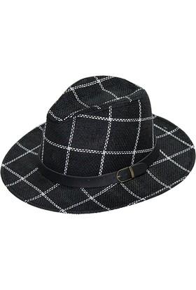Bay Şapkacı Erkek Kareli Fötr Şapka