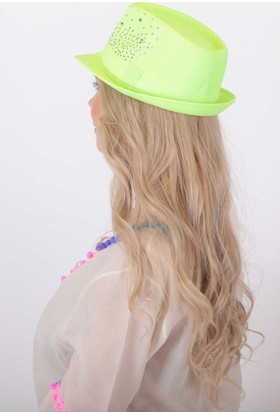 Bay Şapkacı Kadın Taşlı Fötr Şapka
