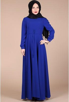Belemir Korsajlı Elbise 0296 - Saks