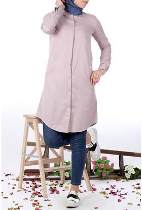 Allday Gömlek Tunik 50427 - Pudra