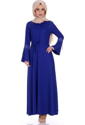 Oben İnci Düğmeli Elbise 0244 - Saks