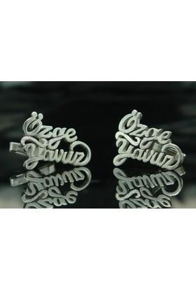 Şahin Gümüş 925 Ayar Özel Tasarım Kol Düğmesi Jptxbz29