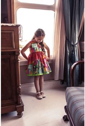 Monnarosa Kız Çocuk Desenli Elbise