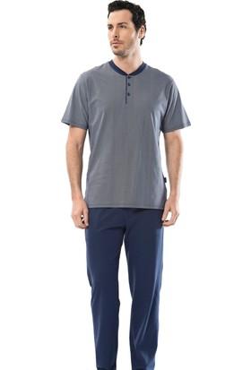 Türen 4102 Empirme Patlı Kısa Kollu Erkek Pijama Takımı