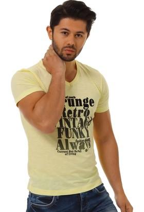 Twister Jeans Ets 1301 Sarı Erkek T-Shirt