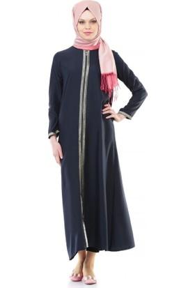 İhvan 5009-2 Fermuarlı Lacivert Namaz Elbisesi