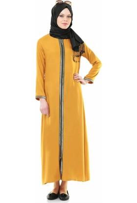 İhvan 5009-5 Fermuarlı Sarı Renkli Namaz Elbisesi