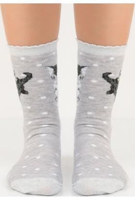 Madame Coco Simli Kedili Bayan Soket Çorap