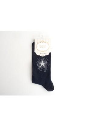 Madame Coco Bayan Yıldız Baskılı Soket Çorap
