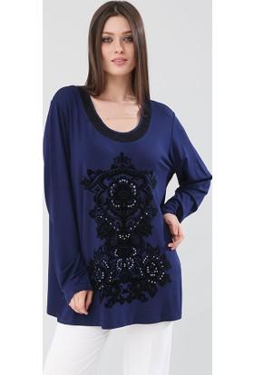 Lir Kadın Bluz Lacivert 2117