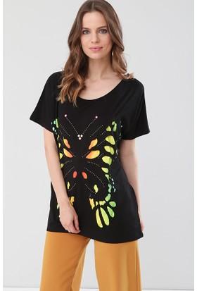 Lir Kadın Lazer Kesim Bluz Siyah 2139