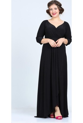 Angelino Butik Kl56 Siyah Abiye Elbise