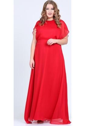 Angelino Butik Kl7888 Kırmızı Abiye Elbise