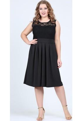 Angelino Butik Kl5604 Siyah Abiye Elbise