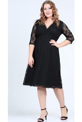 Angelino Butik Kl70088 Siyah Abiye Elbise