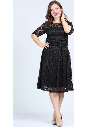 Angelino Butik Kl7001 Siyah Abiye Elbise