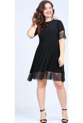 Angelino Butik Kl2235 Siyah Abiye Elbise