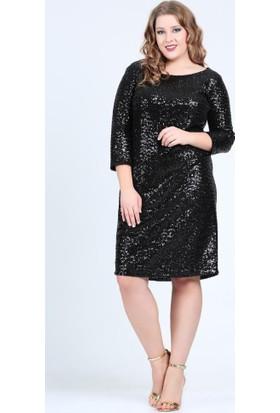 Angelino Butik Kl5601H Siyah Abiye Elbise