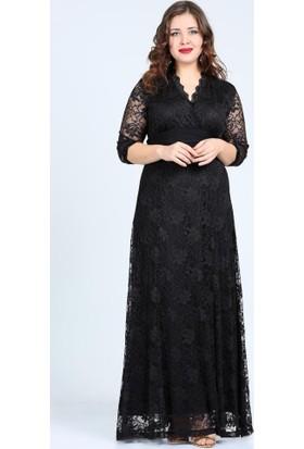 Angelino Butik Kl26001 Siyah Abiye Elbise