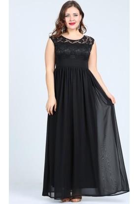Angelino Butik Kl4009 Siyah Abiye Elbise