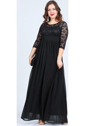 Angelino Butik Kl4009K Siyah Abiye Elbise