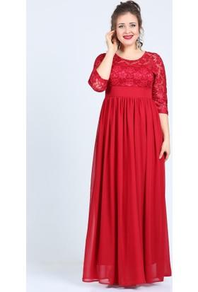 Angelino Butik Kl4009K Kırmızı Abiye Elbise