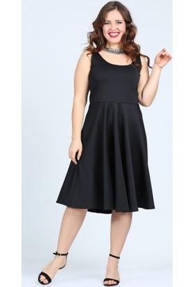 Angelino Butik Kl7070 Siyah Abiye Elbise