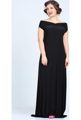 Angelino Butik Kl126 Siyah Abiye Elbise