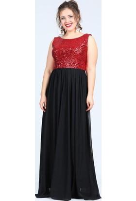Angelino Butik Kl7885 Kırmızı Abiye Elbise