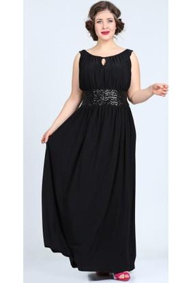 Angelino Butik Kl5089 Siyah Abiye Elbise