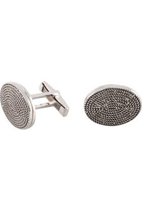 Akyüz Gümüş Telkari Gümüş Kol Düğmesi Kdm017
