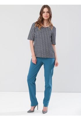 Lir Büyük Beden Kadın Pantolon P.Mavi 6008