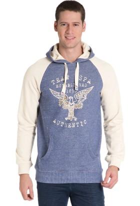U.S. Polo Assn. Erkek Tosic Kapşonlu Sweatshirt Mavi