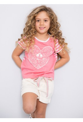 U.S. Polo Assn. Kız Çocuk Vernon T-Shirt Pembe