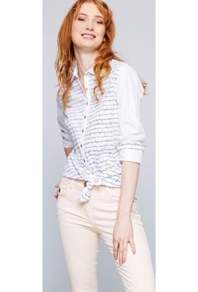 U.S. Polo Assn. Kadın Yarenda Gömlek Lacivert