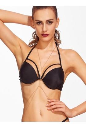 Hane14 Made For You Bikini Zincirli Vücut Takısı Gold