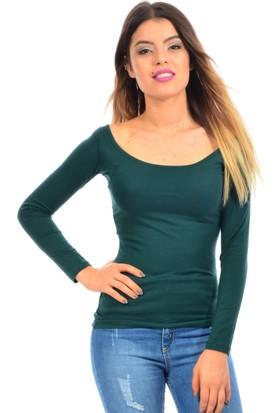 Dies Kadın Kayık Yaka Yeşil Body