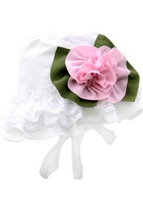 Babygiz Çiçek Aksesuarlı Fırfırlı Şapka