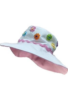 Babygiz Çiçekli Fötr Şapka