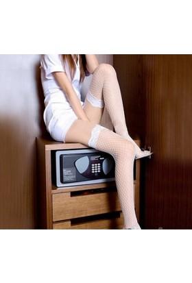 Corona Kadın Seksi File Çorap Jartiyer Çorabı