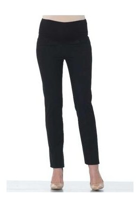 Ebru Maternity Dar Kesim Hamile Kumaş Pantolon Siyah