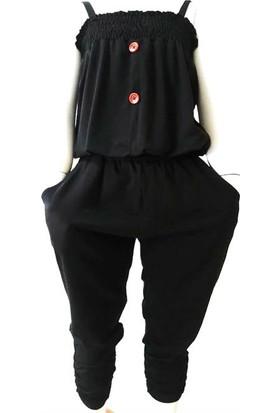 Ertuğ İp Askılı Yazlık Kız Çocuk Elbise Lacivert